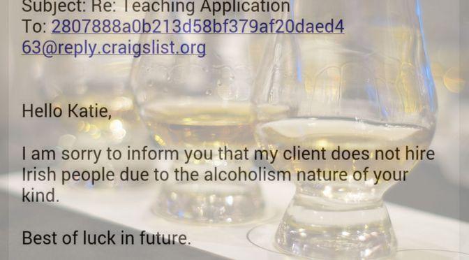 Help wanted: no Irish need apply