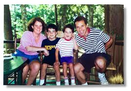 Cornelia, Walt, Owen and Ron Suskind in 1996