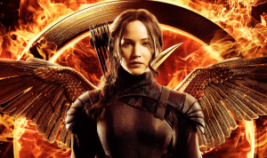 Promo shot Jennifer Lawrence as Katniss Everdeen