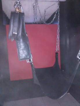 A sex swing in Erotheek 3000's basement